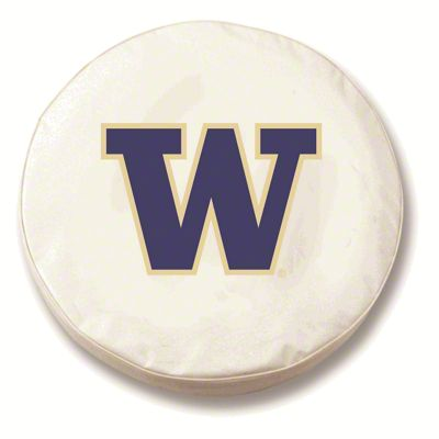 University of Washington Spare Tire Cover - White (87-18 Jeep Wrangler YJ, TJ, JK & JL)