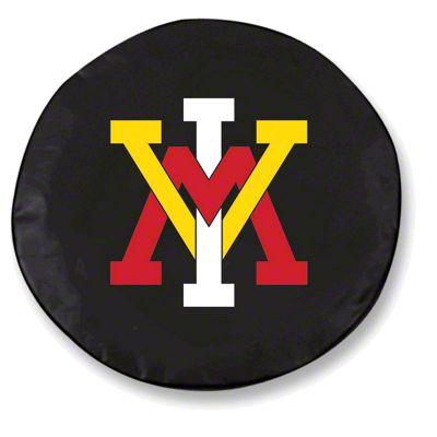 Virginia Military Institute Spare Tire Cover - Black (87-18 Jeep Wrangler YJ, TJ, JK & JL)
