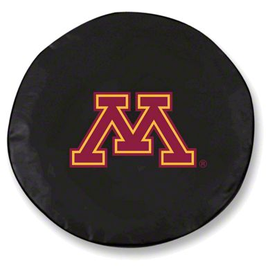 University of Minnesota Spare Tire Cover - Black (87-18 Jeep Wrangler YJ, TJ, JK & JL)