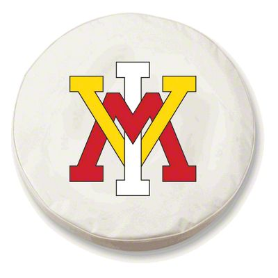 Virginia Military Institute Spare Tire Cover - White (87-18 Jeep Wrangler YJ, TJ, JK & JL)