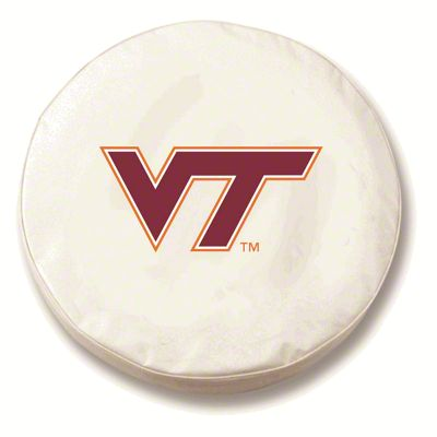 Virginia Tech University Spare Tire Cover - White (87-18 Jeep Wrangler YJ, TJ, JK & JL)