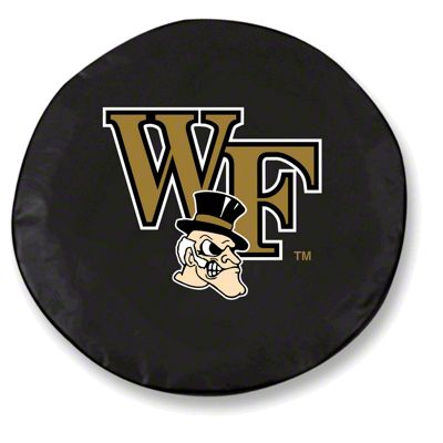 Wake Forest University Spare Tire Cover - Black (87-18 Jeep Wrangler YJ, TJ, JK & JL)