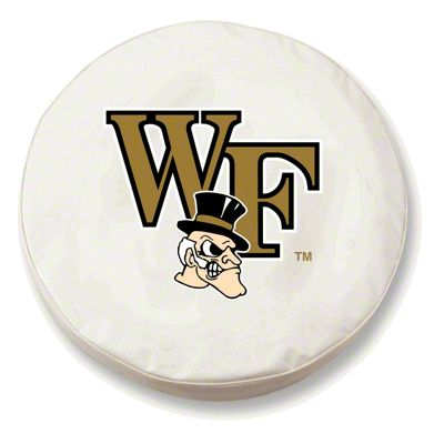 Wake Forest University Spare Tire Cover - White (87-18 Jeep Wrangler YJ, TJ, JK & JL)