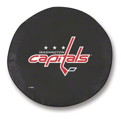 Washington Capitals Spare Tire Cover - Black (87-18 Jeep Wrangler YJ, TJ, JK & JL)