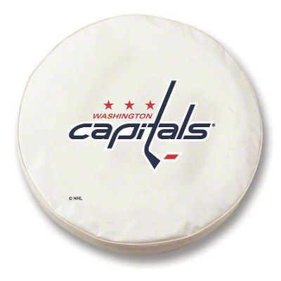 Washington Capitals Spare Tire Cover - White (87-18 Jeep Wrangler YJ, TJ, JK & JL)