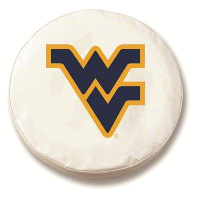 West Virginia University Spare Tire Cover - White (87-18 Jeep Wrangler YJ, TJ, JK & JL)