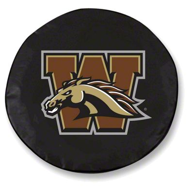 Western Michigan University Spare Tire Cover - Black (87-18 Jeep Wrangler YJ, TJ, JK & JL)