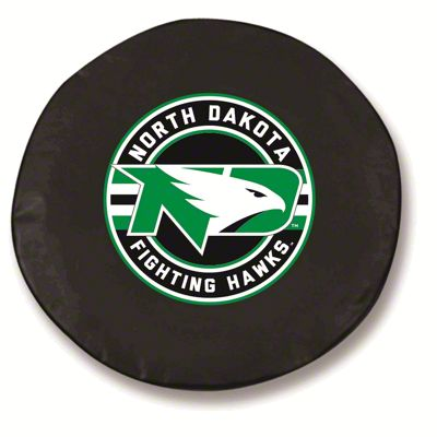 University of North Dakota Spare Tire Cover - Black (87-18 Jeep Wrangler YJ, TJ, JK & JL)