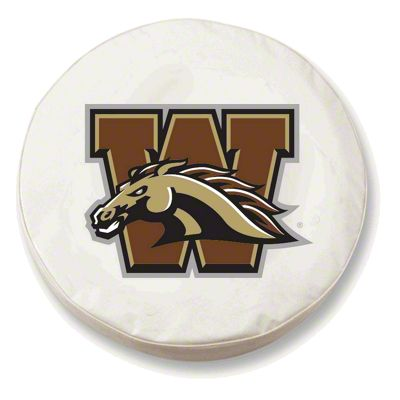 Western Michigan University Spare Tire Cover - White (87-18 Jeep Wrangler YJ, TJ, JK & JL)