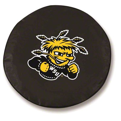 Wichita State Spare Tire Cover - Black (87-18 Jeep Wrangler YJ, TJ, JK & JL)