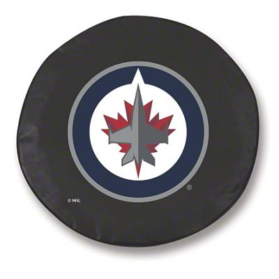 Winnipeg Jets Spare Tire Cover - Black (87-18 Jeep Wrangler YJ, TJ, JK & JL)