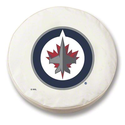 Winnipeg Jets Spare Tire Cover - White (87-18 Jeep Wrangler YJ, TJ, JK & JL)
