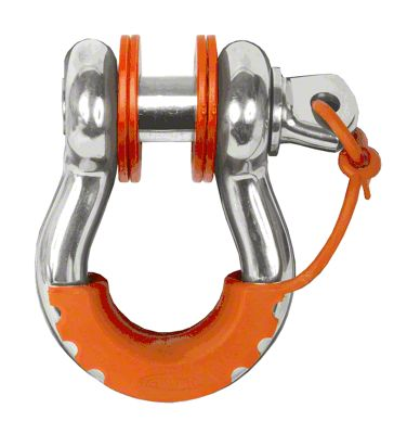 Daystar D-Ring Locking Isolators & Washers - Fluorescent Orange