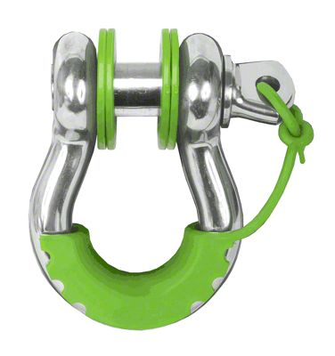 Daystar D-Ring Locking Isolators & Washers - Fluorescent Green