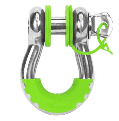 Daystar D-Ring Isolators, Two Locking & Six Non-Locking Washers Locking Washers - Fluorescent Green