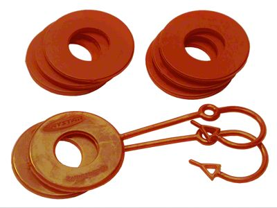 Daystar D-Ring Two Locking & Six Non-Locking Washers - Orange