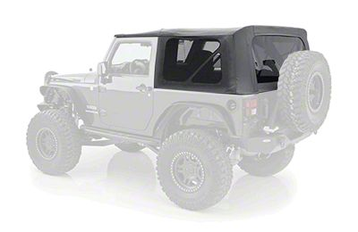 Smittybilt Replacement Soft Top w/ Tinted Windows - Black Diamond (10-18 Jeep Wrangler JK 2 Door)