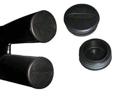 Smittybilt Tubular Bumper End Caps for 3 in. Tubes - Black (87-18 Jeep Wrangler YJ, TJ, JK & JL)