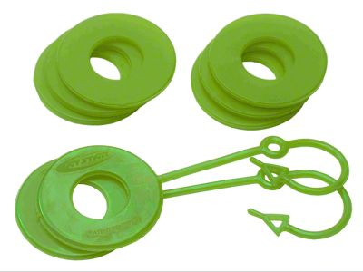 Daystar D-Ring Two Locking & Six Non-Locking Washers - Fluorescent Green