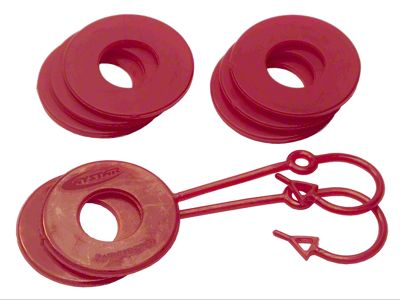 Daystar D-Ring Two Locking & Six Non-Locking Washers - Red