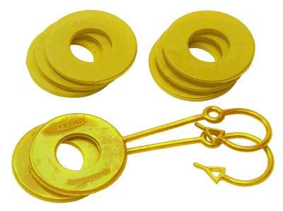 Daystar D-Ring Two Locking & Six Non-Locking Washers - Yellow
