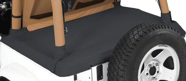 Pavement Ends Cargo Cover - Black Denim (92-95 Jeep Wrangler YJ)