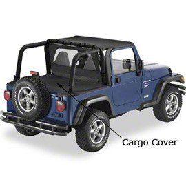 Cargo Cover - Black Denim (97-02 Jeep Wrangler TJ)