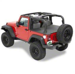 Cargo Cover - Black Diamond (07-18 Jeep Wrangler JK 2 Door)