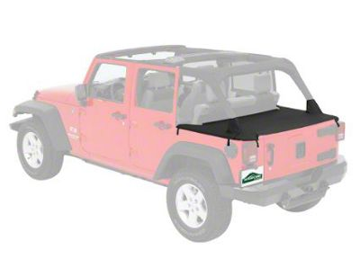 Cargo Cover - Black Diamond (07-18 Jeep Wrangler JK 4 Door)