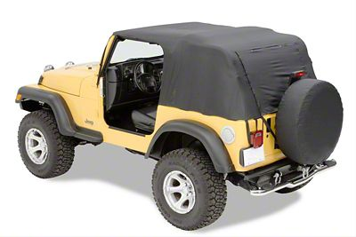 Pavement Ends Emergency Top - Black (07-18 Jeep Wrangler JK 2 Door)