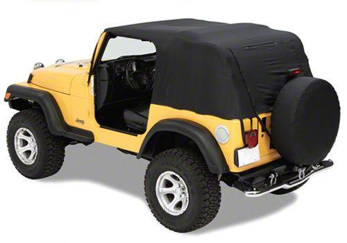 Pavement Ends Emergency Top - Black (87-91 Jeep Wrangler YJ)