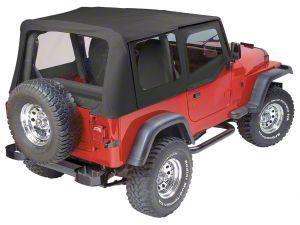 Replay Soft Top w/ Clear Windows - Black Denim (88-95 Jeep Wrangler YJ)