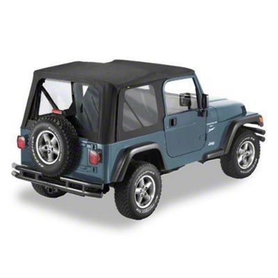Pavement Ends Replay Soft Top w/ Clear Windows - Black Denim (97-06 Jeep Wrangler TJ, Excluding Unlimited)
