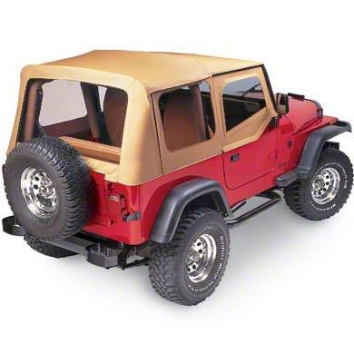 Pavement Ends Replay Soft Top w/ Clear Windows - Spice (88-95 Jeep Wrangler YJ)