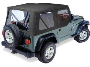 Replay Soft Top w/ Door Skins & Clear Windows - Black Denim (97-06 Jeep Wrangler TJ, Excluding Unlimited)