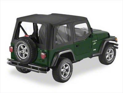 Pavement Ends Replay Soft Top w/ Door Skins & Clear Windows - Black Diamond (97-06 Jeep Wrangler TJ, Excluding Unlimited)