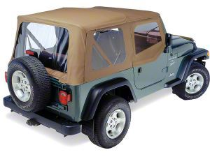 Pavement Ends Replay Soft Top w/ Door Skins & Clear Windows - Spice (97-06 Jeep Wrangler TJ, Excluding Unlimited)