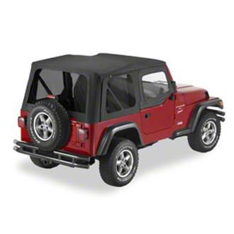 Pavement Ends Replay Soft Top w/ Door Skins & Tinted Windows - Black Diamond (97-06 Jeep Wrangler TJ, Excluding Unlimited)