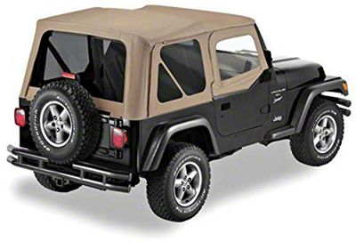 Replay Soft Top w/ Door Skins & Tinted Windows - Dark Tan (97-06 Jeep Wrangler TJ, Excluding Unlimited)