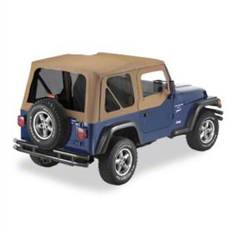 Replay Soft Top w/ Door Skins & Tinted Windows - Spice (97-06 Jeep Wrangler TJ, Excluding Unlimited)