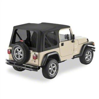 Replay Soft Top w/ Tinted Windows - Black Diamond (97-06 Jeep Wrangler TJ, Excluding Unlimited)