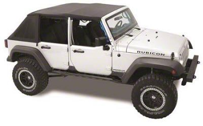 Sprint Top Frameless Soft Top - Black Diamond (07-09 Jeep Wrangler JK 4 Door)