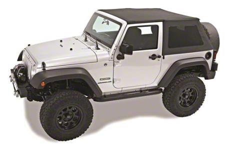 Pavement Ends Sprint Top Frameless Soft Top - Black Diamond (10-18 Jeep Wrangler JK 2 Door)