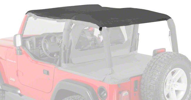 Pavement Ends Sun Cap Plus - Black Denim (97-02 Jeep Wrangler TJ)