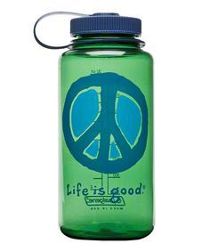 Life is Good Elemental Peace Water Bottle - Spring Green
