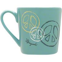 Life is Good Elemental Peace Coffee Mug - Spring Green