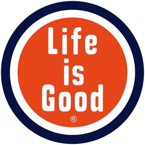 Life is Good Circle Car Magnet - Orange