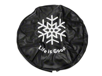 Life is Good Snowflake Spare Tire Cover (87-18 Jeep Wrangler YJ, TJ, JK & JL)