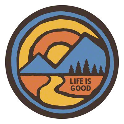 Life is Good Color Block Mountiain Sticker