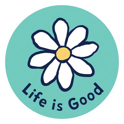 Life is Good Daisy Circle Sticker